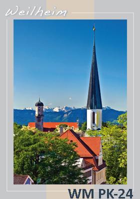 Postkarten Weilheim Sommer
