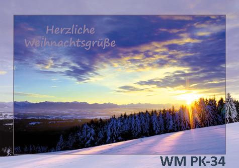 Postkarten Weilheim Winter