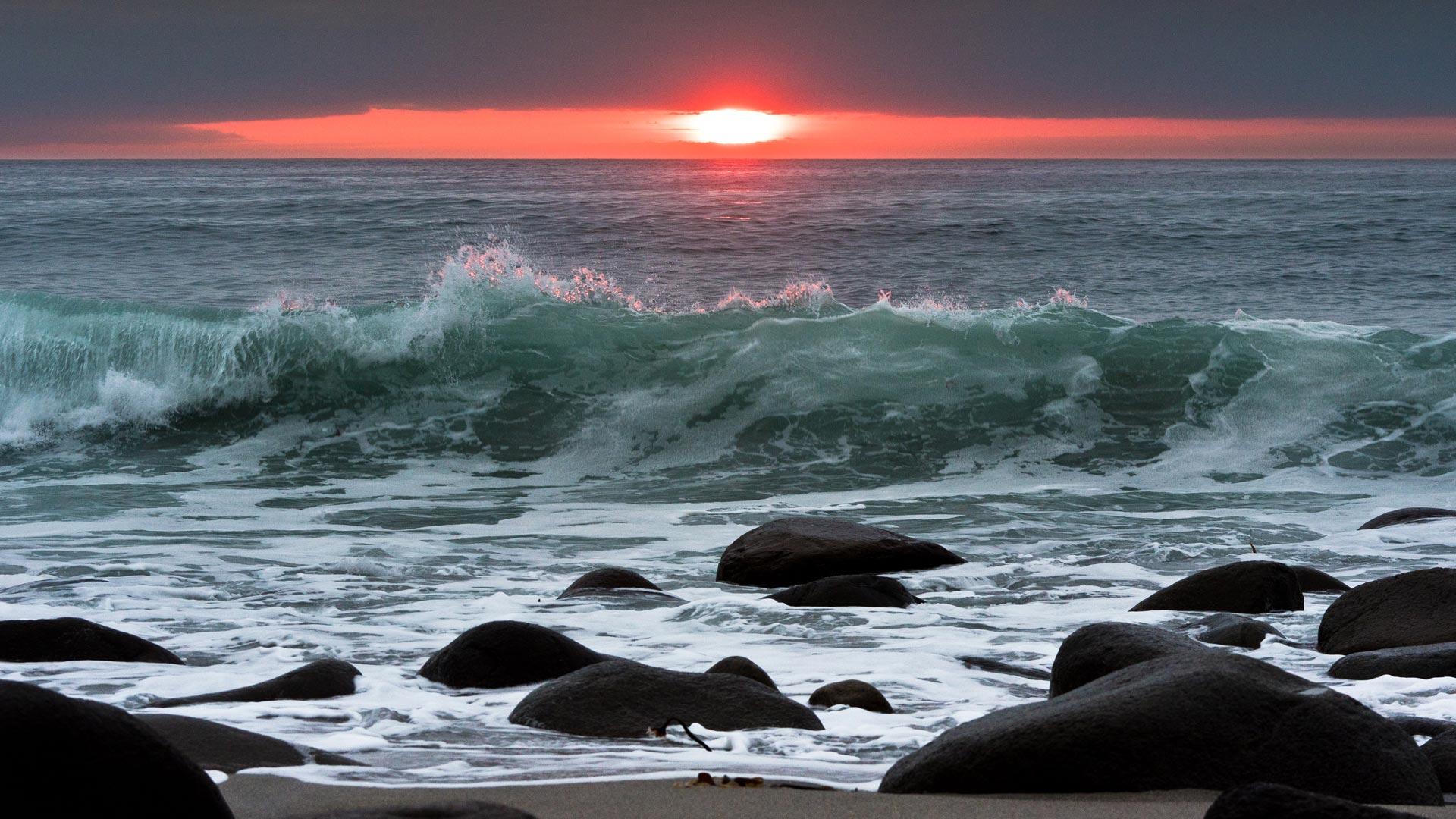 Sonnenuntergang, Lofoten
